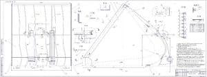 Сборочный чертеж ковша для снега КС с техническими требованиями
