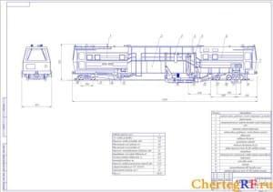 выпровочно-подбивочно-отделочной машины ВПО-3000 (формат А1)