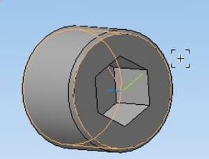 16.Гайка в 3D-моделировании