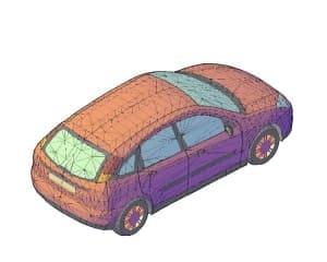 16.Чертеж общего вида автомобиля легкового Ford Focus в 3D формате