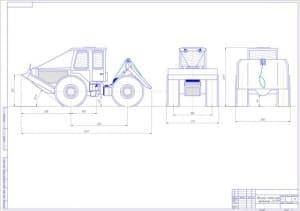 1.Чертеж общего вида трелевочного трактора LKT-81 (формат А1) Трелевочный трактор ЛКТ 81 предназначен для трелевки древесины с место насаждения на место отправки, и для других работ связанной с транспортировкой леса