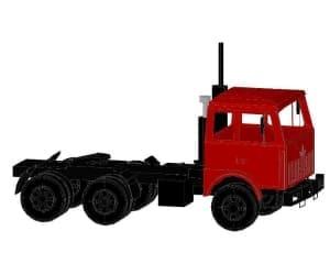 1.Чертеж вида общего автомобиля грузового МАЗ в 3D формате