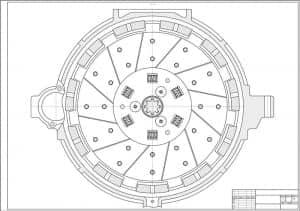 1.Чертеж сцепления автомобиля грузового МАЗ-533602 в масштабе 1:1, разрез А-А (формат А1)