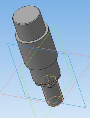 17.Модель 3D оси колеса вертикальной