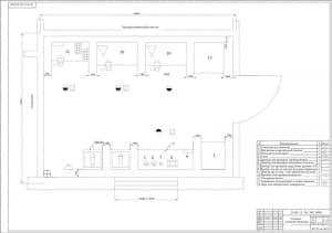 1.Общего вида чертеж участка обслуживания системы питания в масштабе 1:25, с расстановкой технологического оборудования (формат А1)