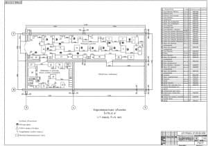 1.Чертеж плана размещения технологического оборудования в моторном участке (до внедрения) в масштабе 1:50, с приведенным перечнем наименований элементов, условными обозначениями и характеристикой объекта: F=174.6м2, i=1 смена, Ря=4 чел.  (формат А1)