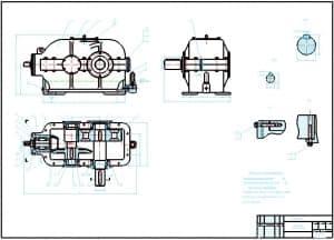 1.Сборочный чертеж редуктора привода ленточного конвейера в масштабе 1:2