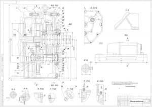 1.Сборочный чертеж мотор-редуктора в масштабе 1:1