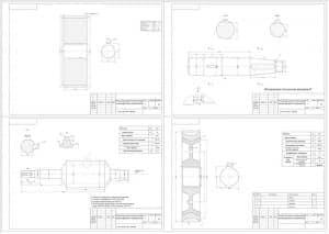 1.Чертежи деталей редуктор двухступенчатый цилиндрическо-червячный в масштабе 1:1