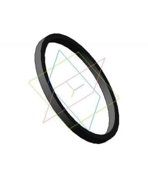 Чертеж детали кольца распорного модель 3d