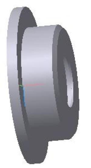 18.Чертеж 3d модели крышки подшипника
