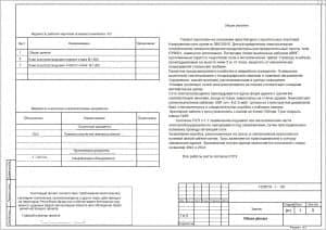 1.Чертеж общих данных с ведомостями рабочих чертежей основного комплекта ЭО и ссылочных и прилагательных документов (формат А3)
