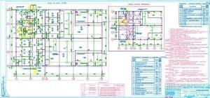 1.Чертеж плана на отметке 0.000, схемы эвакуации, экспликации помещений и наружных установок: комната мастера КИП