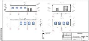 19.Чертеж фасадов А-Г, Г-А, 1-3, 3-1, с указанием отметок