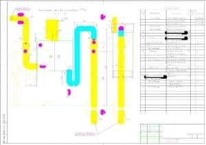 Чертеж монтажный установки газорегуляторных пунктов ГPПШ 05-2Y-1 со спецификацией, в масштабе 1:10 (формат А1)
