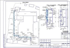 1.Чертеж плана ввода, плана оборудования, плана газопровода