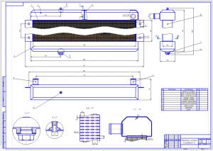 Сборочный чертёж формата А1 типового радиатора системы жидкостного охлаждения транспортного средства