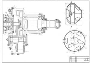 1.Сборочный чертеж смесителя гравитационного СБ-94, разреза А-А, с основными параметрами (формат А1)
