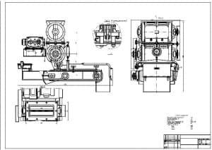 . Сборочный чертеж дозатора весового СБ-71