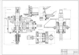 1.Сборочный чертеж смесителя двухстадийного с указанием габаритных размеров (формат А1)