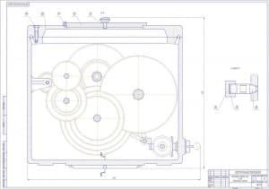 1.Сборочный чертеж коробки скоростей токарного станка z=28 в масштабе 1:2, разрезов А-А и Б-Б (формат А1)