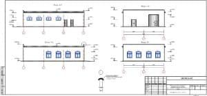 20.Чертеж фасадов А-Г, Г-А, 1-3, 3-1, с указанием отметок 2 (формат А3)