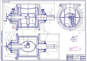 2.Сборочный чертеж делительной головки (формат А1)