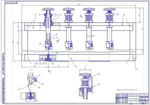 2.Сборочный чертеж резательной рамы (формат А1)