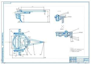 2.Сборочный чертеж тяговой рамы с отвалом А1