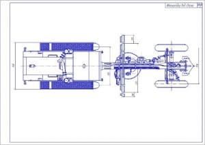 2.Общий вид улучшенного автогрейдера ДЗ-122Б с повышенной производительностью вид сверху А1
