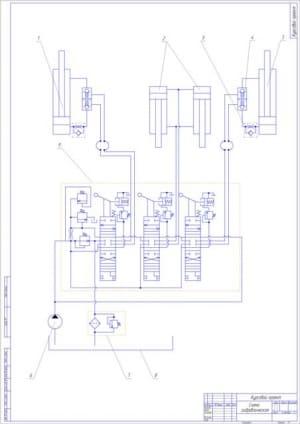 2.Гидравлическая схема бульдозера с неповоротным отвалом А1