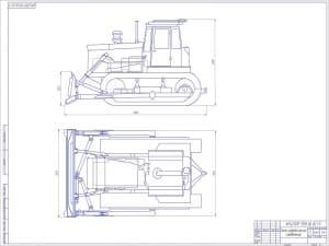 2.Чертеж гидравлических соединений бульдозера на базе трактора Т-130 А1