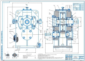 2.Сборочный чертеж цилиндрического одноступенчатого редуктора А1
