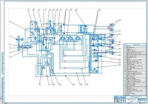 2.Гидравлическая схема (на формате А1)