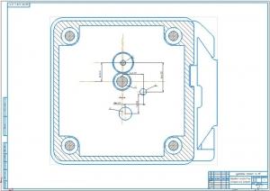 2.Поперечный разрез коробки скоростей (А1)
