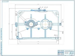 2.Соосный цилиндрический редуктор в сборе А1