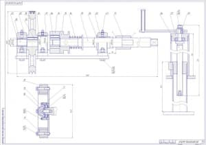 Общего вида чертеж гайковерта, с указанными размерами и деталями (формат А1)