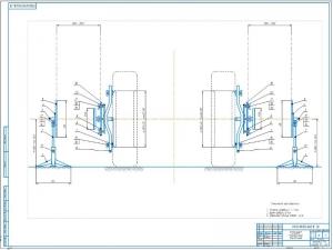 2.Диагностирующее устройство для установки углов управляемых колес в сборе А1