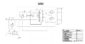 2.Схема гидравлическая принципиальная рулевого управления с обозначением позиций