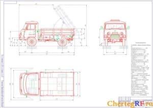 Чертеж автомобиля УАЗ-3303
