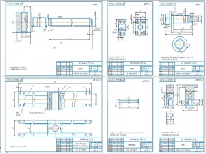 2.Направляющая в сборе и детали: винт, упор, болт, стержень, гайка с указанием материалов для изготовления А1