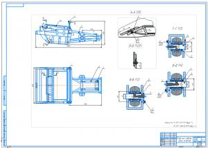 2.Сборочный ковша скрепера А1 с указанием сварных швов