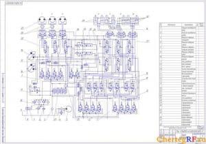 гидравлической схемы экскаватора ЭО-5124