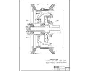 Чертеж ведущего моста грузового автомобиля лист 2. На чертеже приведены технические условия по сборке. (формат А2 )