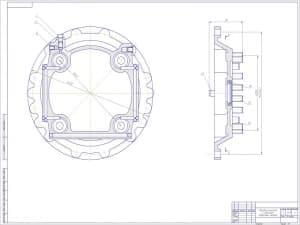 Сборочный чертеж передача конечная с тормозом (формат А1)