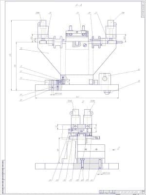 Сборочный чертеж приспособления контрольного