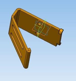 22.3D-модель кронштейна крепления