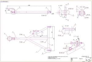 2.Сборочный чертеж водило с техническими требованиями