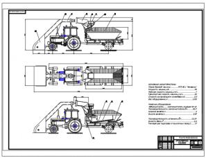 2.Общий вид оборудования для прессования снежного покрова на базе трактора Беларусь МТЗ-82.1 на формате А1