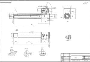 2.Чертеж детали корпуса. Семь проекций изображено на чертеже: вид А-А,